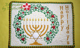 HAPPY HANUKKAH/CHANUKAH/HOLIDAY MUG MATS/Mug Rugs  - Instant Download. - Embroidery by EdytheAnne - 3