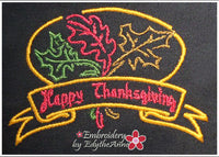 HAPPY THANKSGIVING MACHINE EMBROIDERY DESIGN