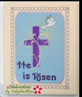 HE HAS RISEN CANVAS ART s-  In The Hoop Machine Embroidery