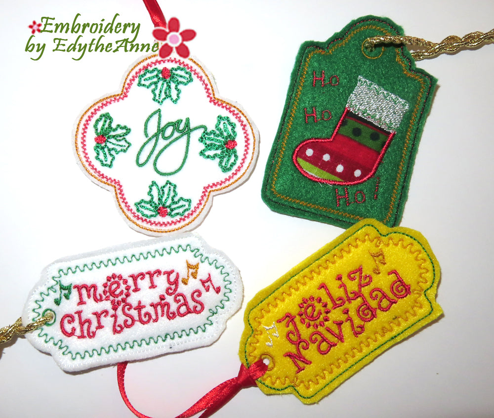 CHRISTMAS TAGS SET OF FOUR - Digital Download