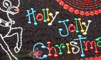 CHRISTMAS MUG MAT/Mug Rug. Holly Jolly Christmas. IN THE HOOP - INSTANT DOWNLOAD - Embroidery by EdytheAnne - 3
