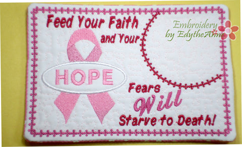 "CANCER AWARENESS includes both ""FAITH"" & ""HOPE"" ribbon designs. Available in two sizes. INSTANT DOWNLOAD NOW - Embroidery by EdytheAnne - 1"