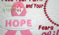 "CANCER AWARENESS includes both ""FAITH"" & ""HOPE"" ribbon designs. Available in two sizes. INSTANT DOWNLOAD NOW - Embroidery by EdytheAnne - 5"