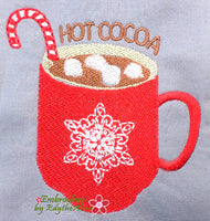 HOT COCOA! Machine Embroidery Design - Digital Download