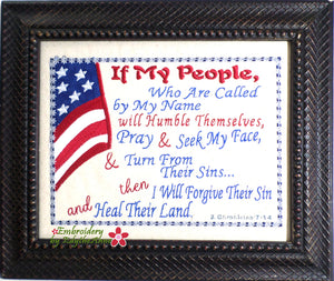 IF MY PEOPLE... CANVAS ART Frameable Canvas-  In The Hoop Machine Embroidery