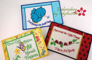 NATURE'S INSPIRING THOUGHTS Set 1 Mug Mat/Mug Rug Set of Three - Digital Download