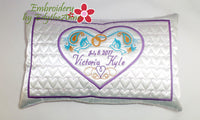 machine embroidery pillow design