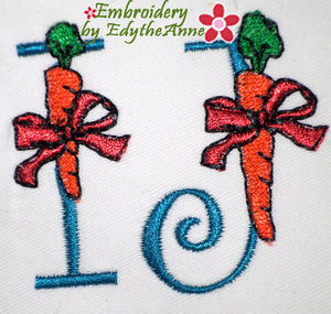 EASTER FONT I & J  Machine Embroidery Design - Digital Download