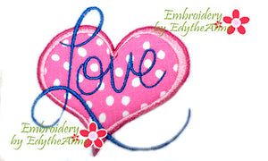 LOVE Heart Applique - INSTANT DOWNLOAD - Embroidery by EdytheAnne
