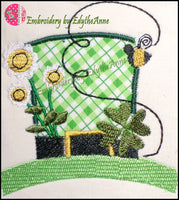LEPRECHAUN FUN Machine Embroidery Design - Digital Download