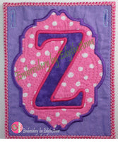 ALPHABET PARTY BANNER BLOCKS In The Hoop Machine Embroidery  - Digital Download