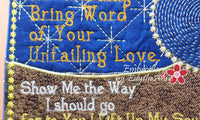 LET MORNING BRING WORD  In The Hoop Machine Embroidered Mug Mat - Embroidery by EdytheAnne - 4