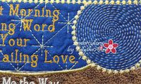 LET MORNING BRING WORD  In The Hoop Machine Embroidered Mug Mat - Embroidery by EdytheAnne - 3