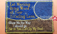 LET MORNING BRING WORD  In The Hoop Machine Embroidered Mug Mat