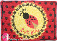 SET 2 VALENTINE REVERSE APPLIQUE  Mug Mats/Mug Rugs - 2 Sizes Available- DIGITAL DOWNLOAD