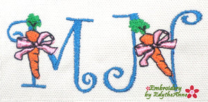 EASTER FONT M & N Machine Embroidery Design - Digital Download
