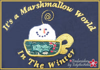 MARSHMALLOW WORLD  Machine Embroidery Design - Digital Download
