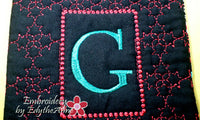 MONOGRAM CROSSBODY BAG - INSTANT DOWNLOAD - Embroidery by EdytheAnne - 5