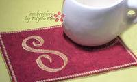 MONOGRAM MUG MATS VERSION 2 - Set of 26  In The Hoop Embroidered Mug Mat/Mug Rug. Instant Download - Embroidery by EdytheAnne - 3