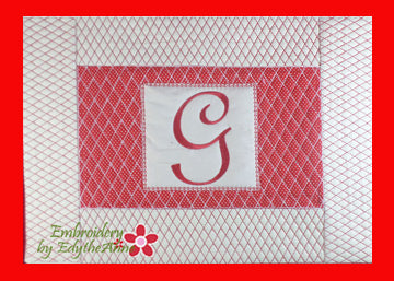 Monogram Placemats In The Hoop Machine Embroidery Design Home Decor