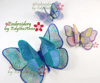FREE STANDING MYLAR BUTTERFLY - MACHINE EMBROIDERY DESIGN - IN THE HOOP -DIGITAL DOWNLOAD