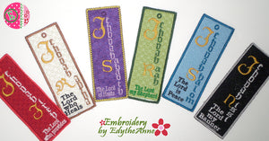 FAITH BASED IN THE HOOP MACHINE EMBROIDERY BOOKMARKS Names of God