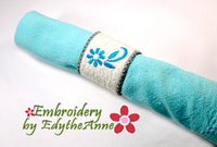 SAVE 50% -  OH SO GRACEFULLY ELEGANT NAPKIN RING In The Hoop Embroidery Design - Instant Download