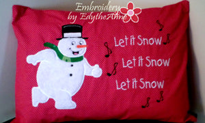 SNOWMAN APPLIQUE ENVELOPE PILLOW COVER BEGINNER VERSION - Embroidery by EdytheAnne - 1