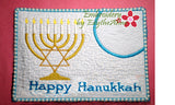 HAPPY HANUKKAH/CHANUKAH/HOLIDAY MUG MATS/Mug Rugs  - Instant Download. - Embroidery by EdytheAnne - 4