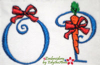 EASTER CARROT FONT Machine Embroidery Design