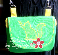 KITTY KITTY FLAP BAG-In The Hoop- Instant Download