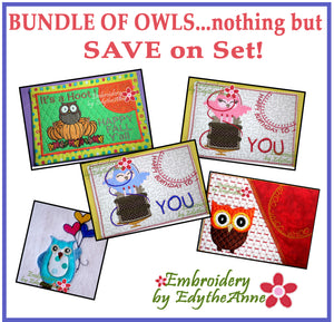 NOTHING BUT OWLS! Sets on Saturday- Save 10% on Bundle-Digital Downloads