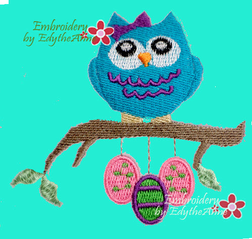 EASTER OWL - Embroidery by EdytheAnne