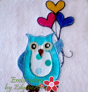 APPLIQUE OWL ....Instant Download - Embroidery by EdytheAnne