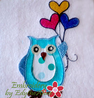 APPLIQUE OWL ....Digital Download