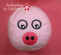 CRITTER BALLS STUFFIES. Machine Embroidered SEVEN different faces. In The Hoop Embroidery Designs. Instant Download - Embroidery by EdytheAnne - 4