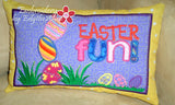 EASTER FUN  In The Hoop Pillow.  Instant Download