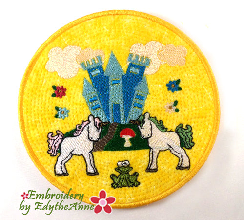 UNICORN STORY BOOK SET - In The Hoop Machine Embroidery Design  - DIGITAL  DOWNLOAD