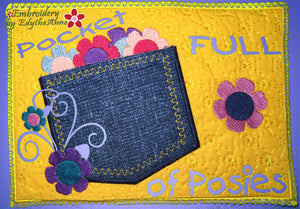 POCKET FULL OF POSIES PLAY MAT In The Hoop Embroidery Design