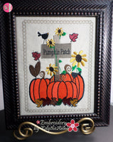 INTRO PRICING - PUMPKIN PATCH CANVAS ART Frameable Canvas-  In The Hoop Machine Embroidery