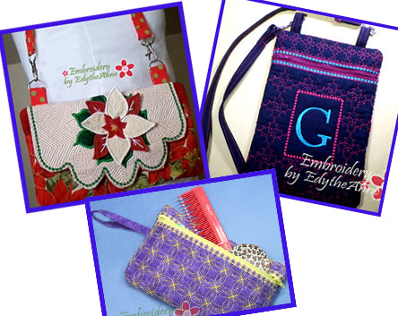PURSE BUNDLE ALL IN THE HOOP  - Save 10% on Bundle- Digital Downloads
