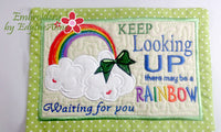 KEEP LOOKING UP MUG MAT/MUG RUG In The Hoop Embroidery Design