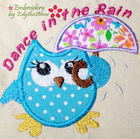 DANCE IN THE RAIN - Machine Embroidery Design - Digital Download