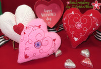 VALENTINE HEART STUFFIE In The Hoop Machine Embroidery Design