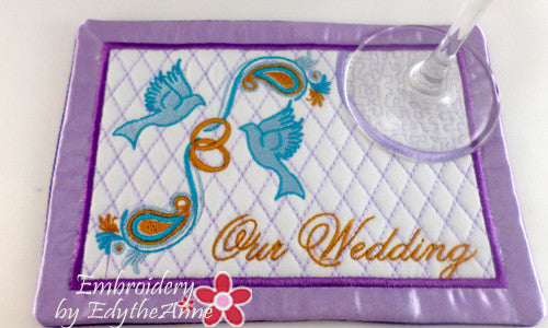 OUR WEDDING MUG MAT/MUG RUG SET Available in two sizes. DIGITAL DOWNLOAD