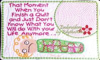 In The Hoop Machine Embroidery Mug Mat/Mug Rug with the QUILTER in MIND.