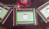 WORDS OF CHRISTMAS PLACE MAT SET  In The Hoop - INSTANT DOWNLOAD - Embroidery by EdytheAnne - 2
