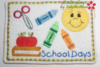 BACK TO SCHOOL IN THE HOOP MACHINE EMBROIDERY