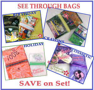 SEE THROUGH BAGS SET- Save 10% on Bundle-Digital Downloads