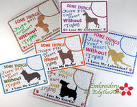 AWESOME DOG BREEDS -Choose Your Breed In The Hoop Mug Mat/Mug Rug Set 2. - Digital Download